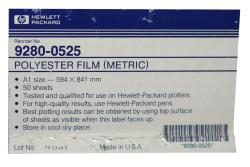 H.P. Plotter Film Polyester 594 x 841 mm